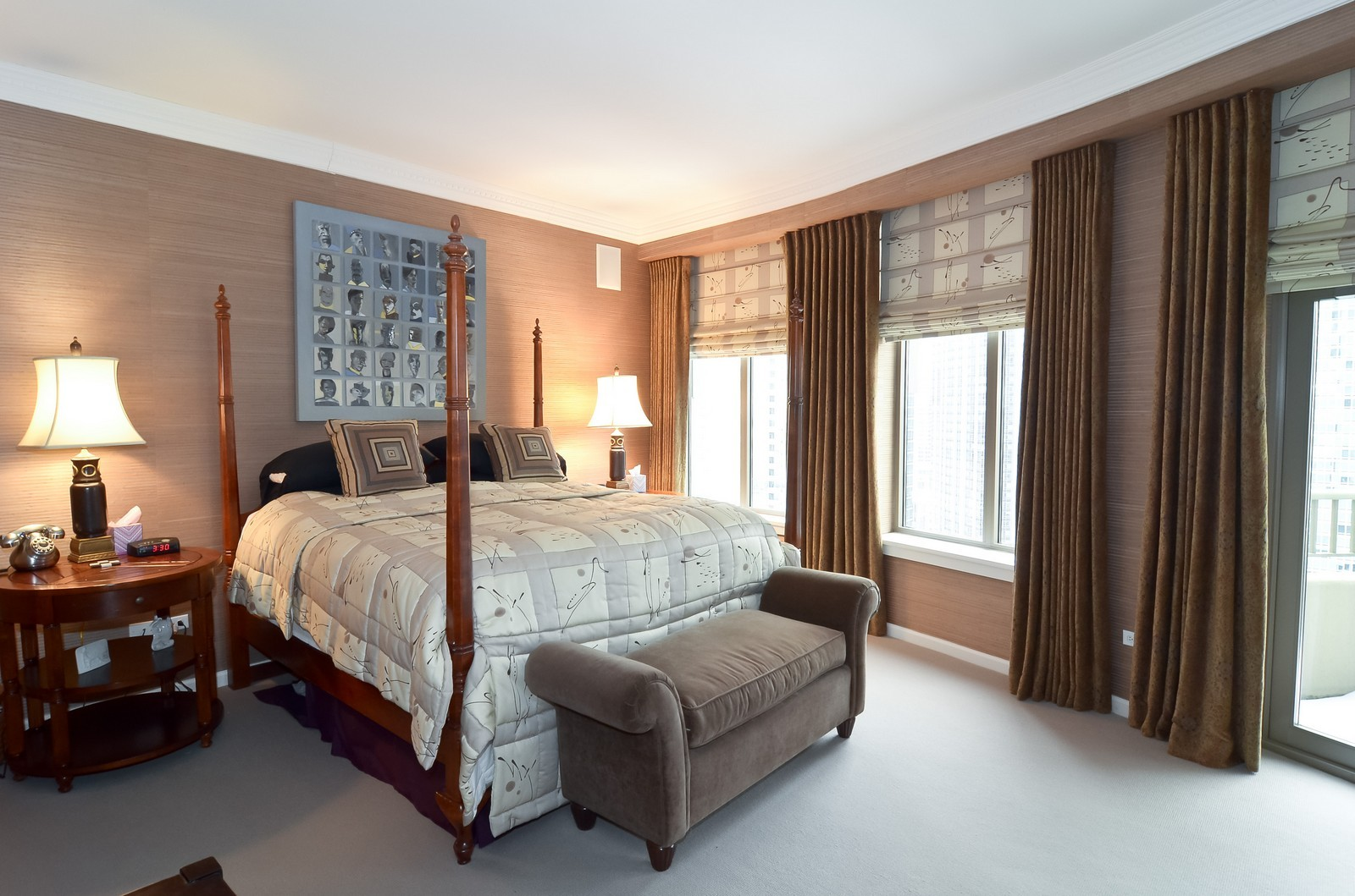 Real Estate Photography - 530 N Lake Shore Drive, Unit 2800, Chicago, IL, 60611 - Master Bedroom