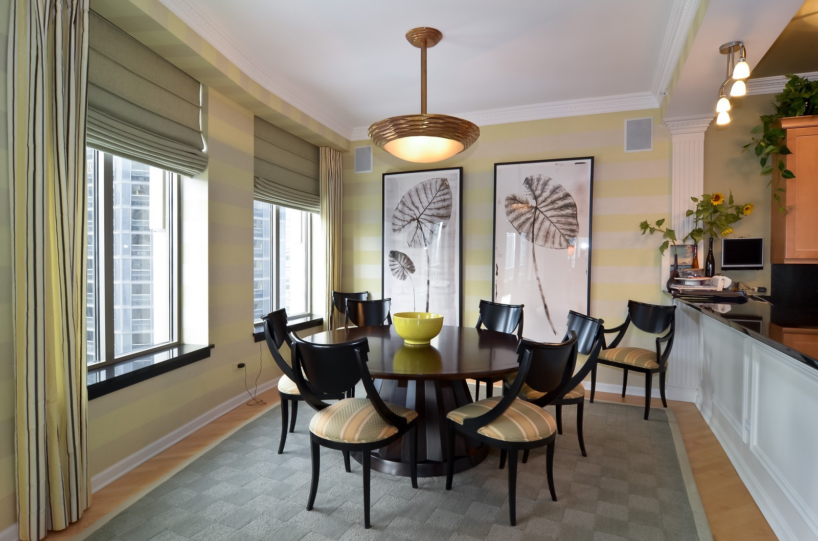 Real Estate Photography - 530 N Lake Shore Drive, Unit 2800, Chicago, IL, 60611 - Dining Room