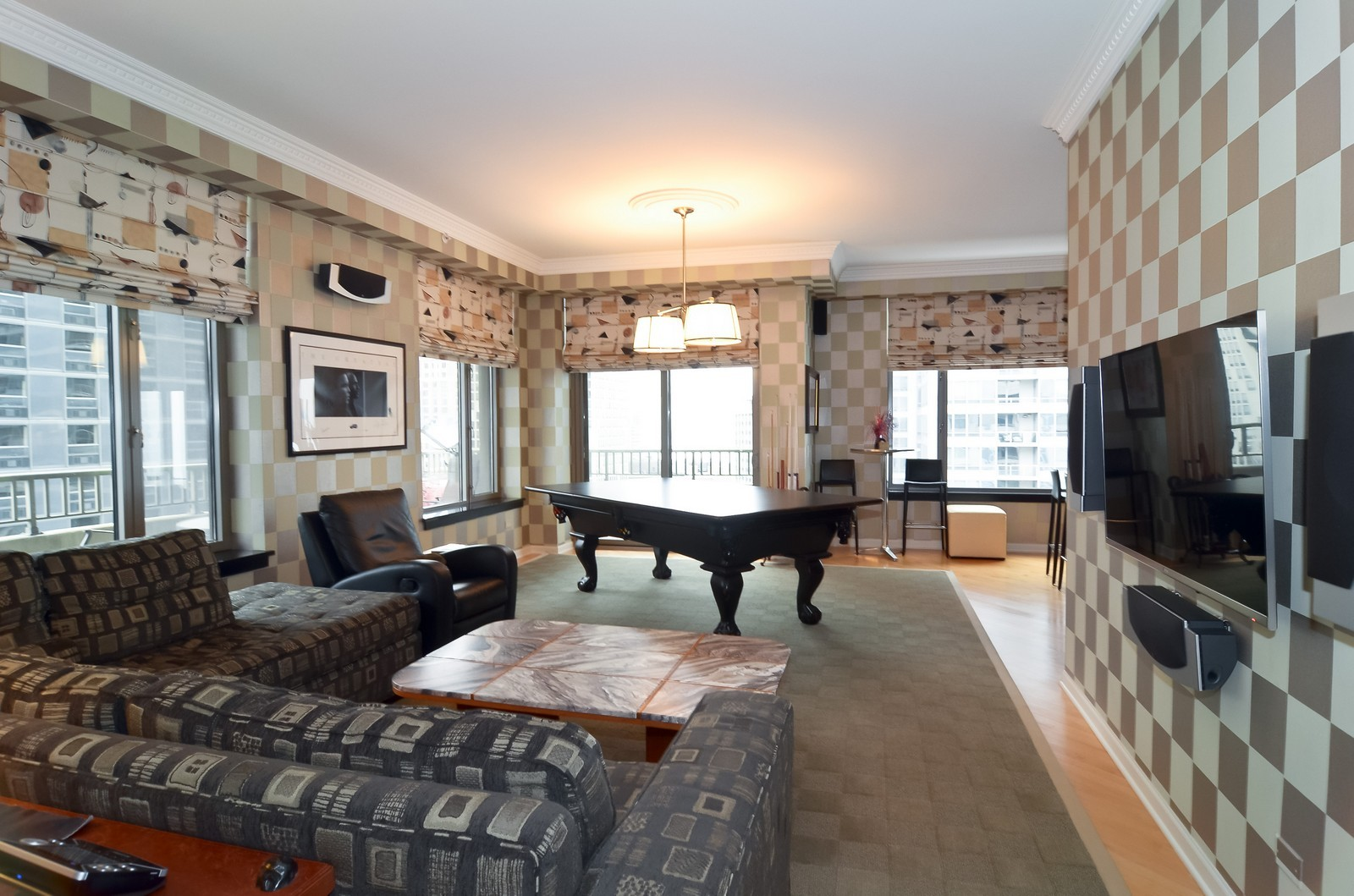 Real Estate Photography - 530 N Lake Shore Drive, Unit 2800, Chicago, IL, 60611 - Family Room