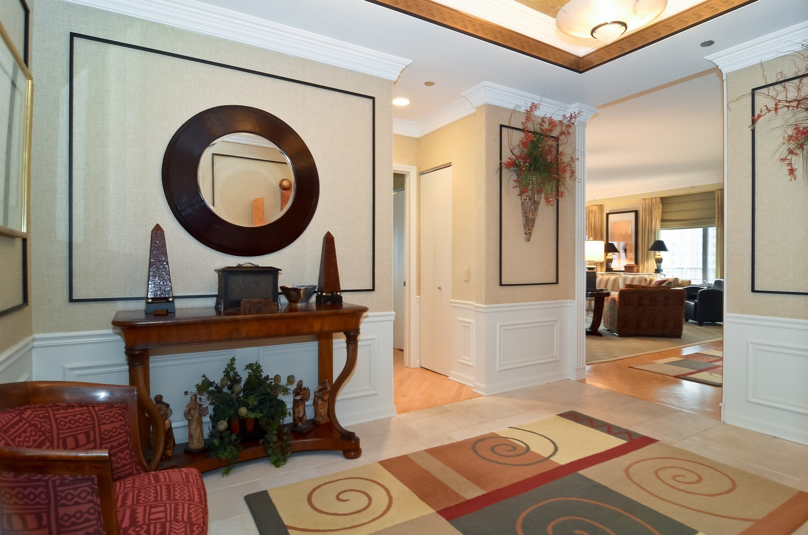 Real Estate Photography - 530 N Lake Shore Drive, Unit 2800, Chicago, IL, 60611 - Foyer
