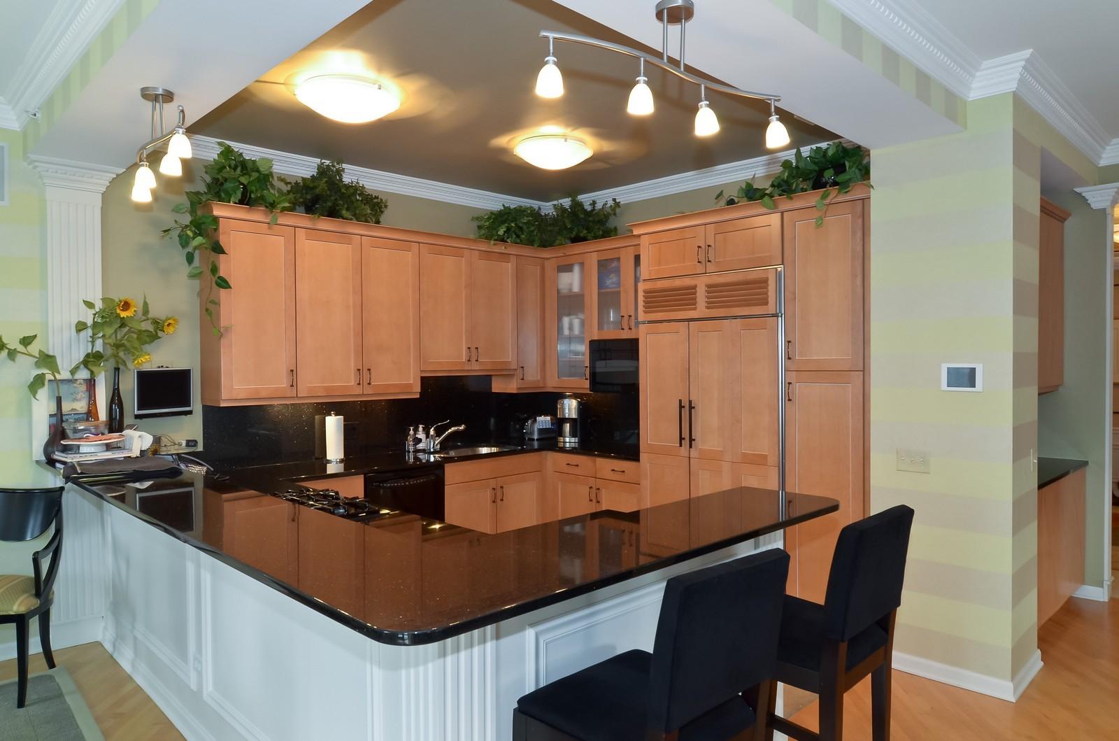 Real Estate Photography - 530 N Lake Shore Drive, Unit 2800, Chicago, IL, 60611 - Kitchen