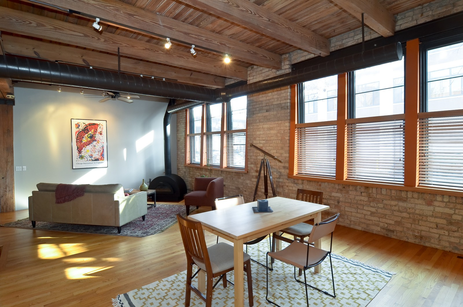 Real Estate Photography - 2435 N. Sheffield, 9, Chicago, IL, 60614 - Living Room / Dining Room