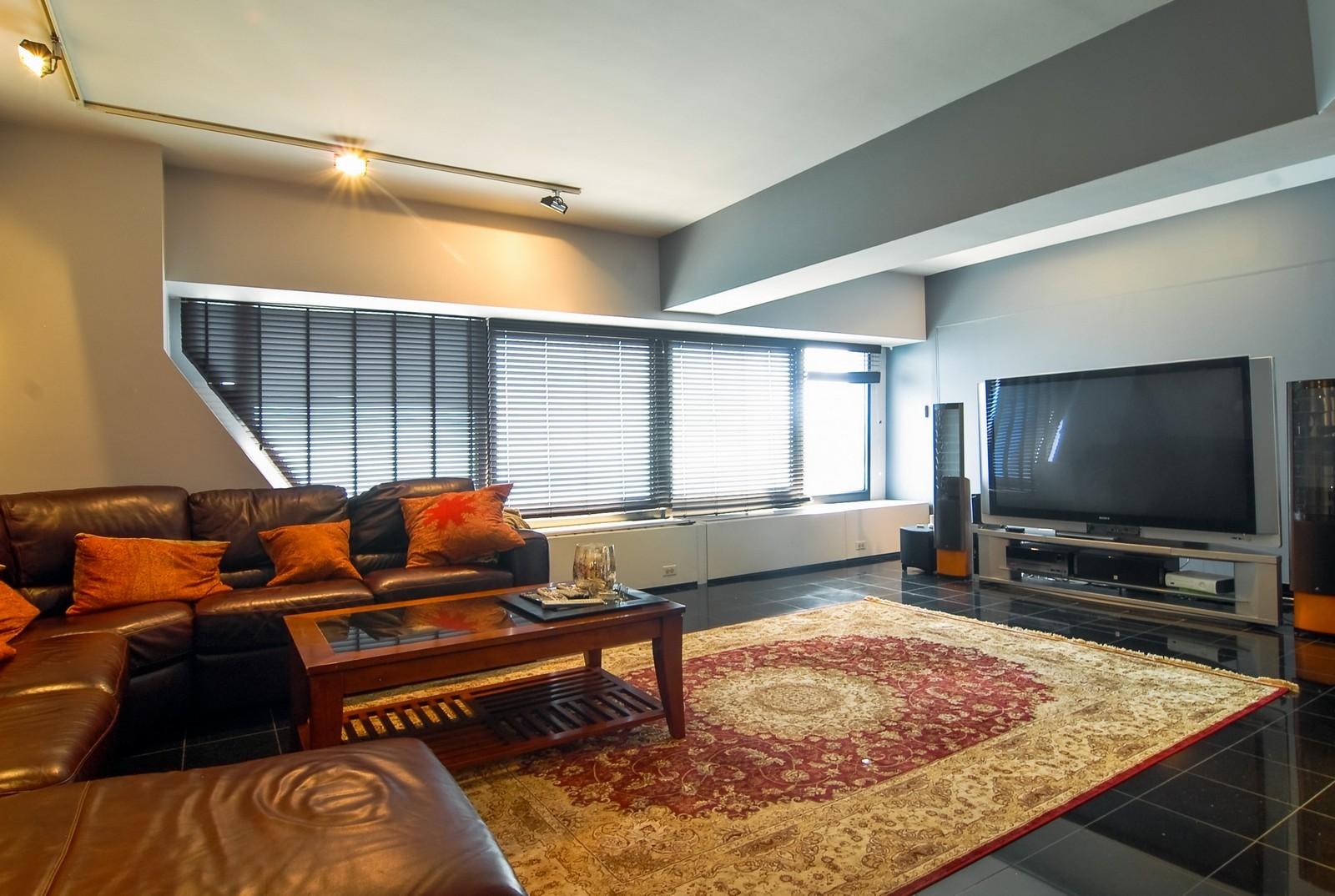 Real Estate Photography - 175 E Delaware, Unit 6507, Chicago, IL, 60611 - Living Room