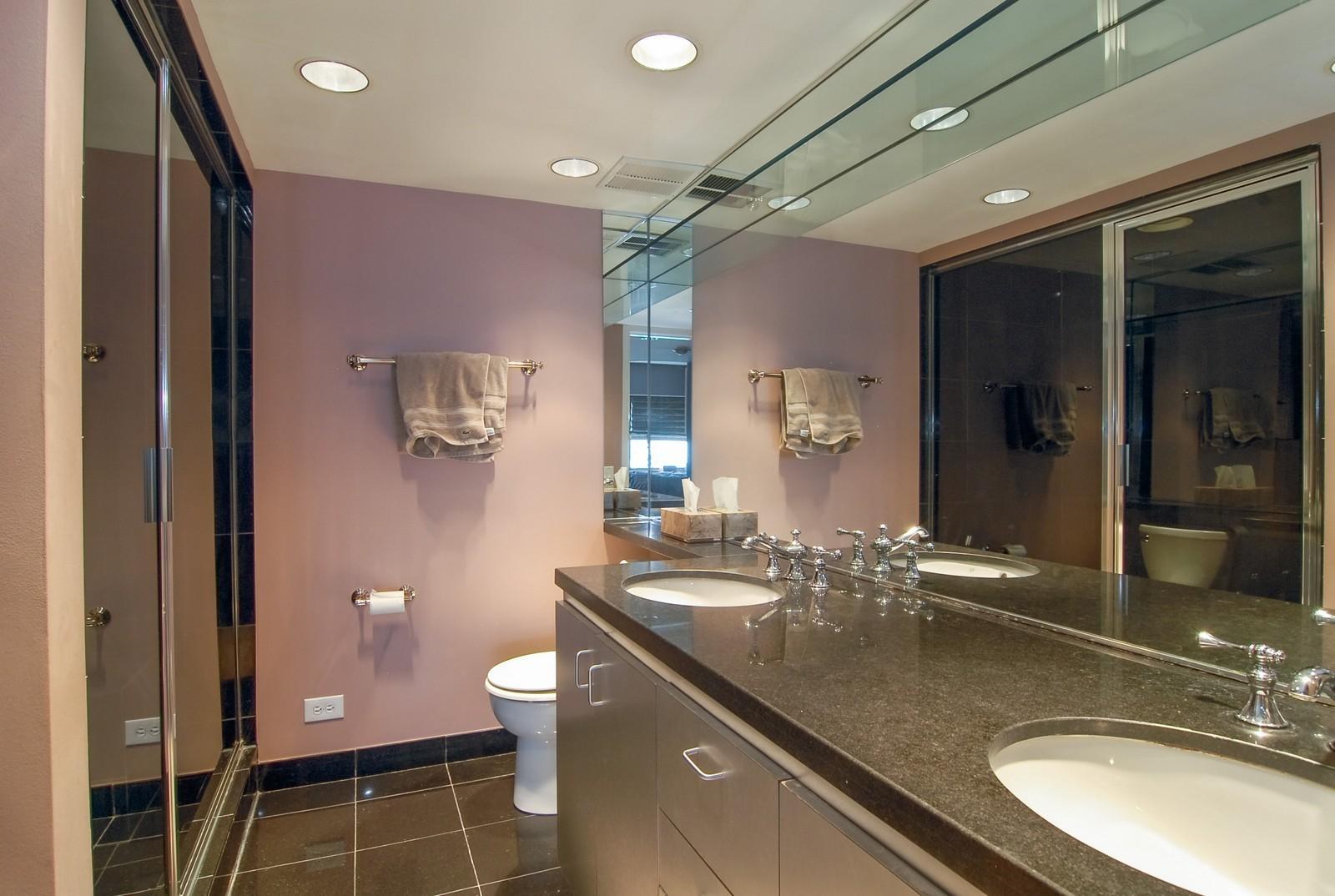 Real Estate Photography - 175 E Delaware, Unit 6507, Chicago, IL, 60611 - Master Bathroom
