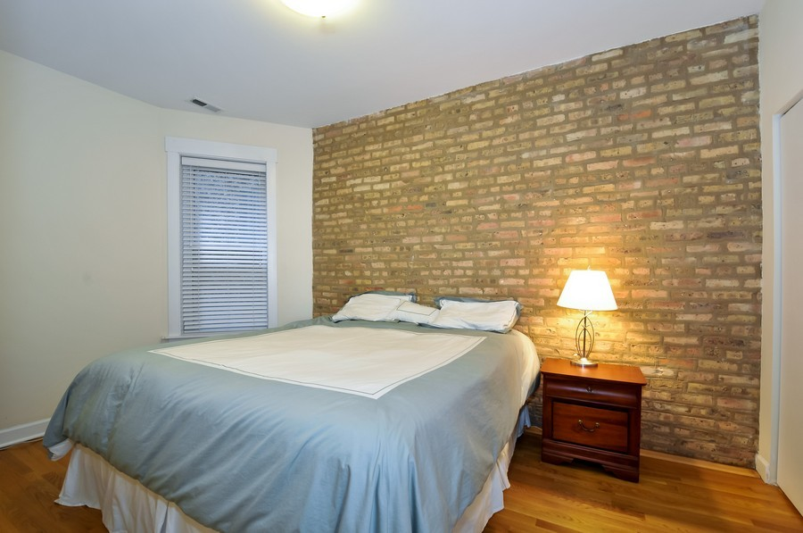 Real Estate Photography - 2420  Southport Ave, Unit 1R, Chicago, IL, 60614 - Bedroom