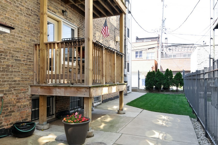 Real Estate Photography - 2420  Southport Ave, Unit 1R, Chicago, IL, 60614 - Back Yard