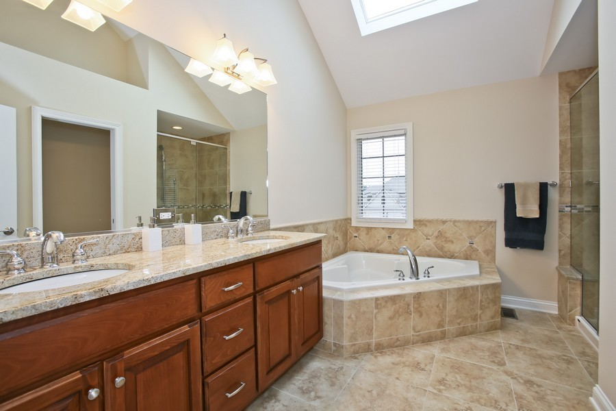 Real Estate Photography - 5613 Durand, Downers Grove, IL, 60515 - Master Bathroom