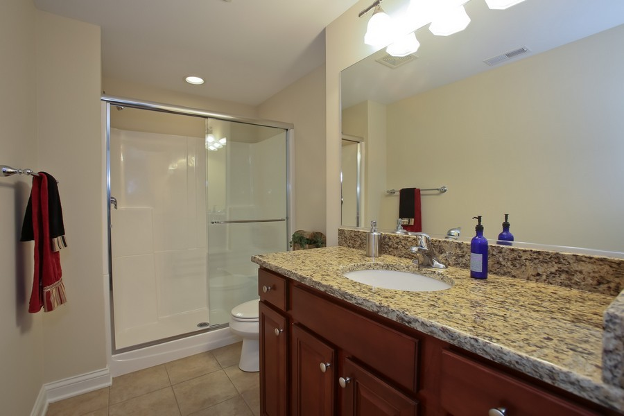 Real Estate Photography - 5613 Durand, Downers Grove, IL, 60515 - 2nd Bathroom