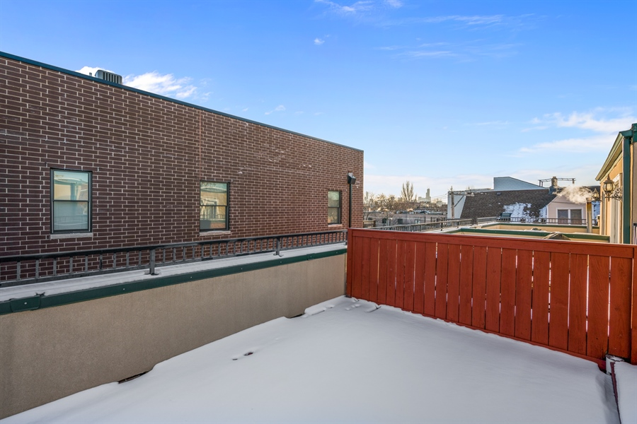 Real Estate Photography - 2757 N Bosworth, Chicago, IL, 60614 - Deck