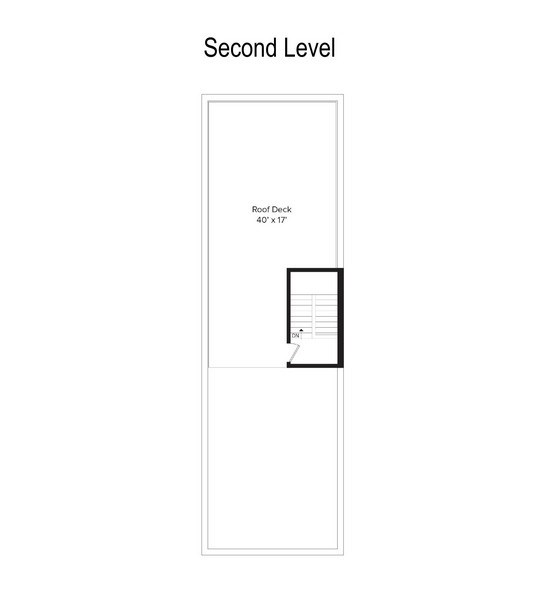 Real Estate Photography - 1543 N Bosworth, Unit #3, Chicago, IL, 60642 - Floor Plan