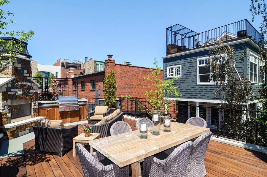 Real Estate Photography - 1710 N Orchard, Chicago, IL, 60614 - Roof Deck