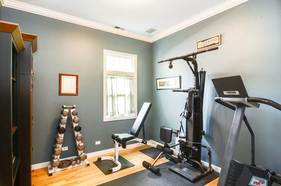 Real Estate Photography - 1710 N Orchard, Chicago, IL, 60614 - 2nd Bedroom/Exercise Room