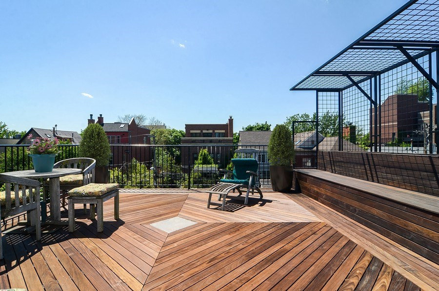 Real Estate Photography - 1710 N Orchard, Chicago, IL, 60614 - Terrace