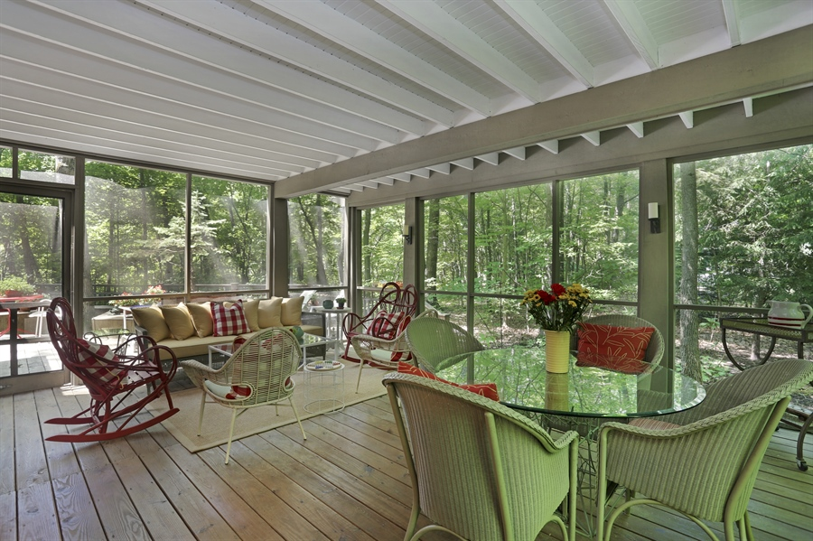 Real Estate Photography - 9440 California, Union Pier, MI, 49129 - Sun Room
