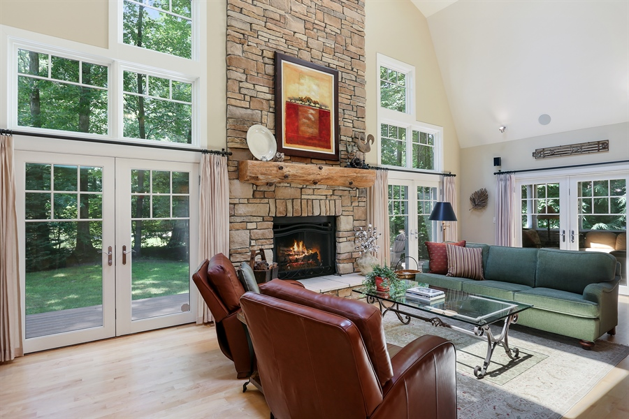 Real Estate Photography - 15987 Bittersweet Lane, Union Pier, MI, 49129 - Living Room