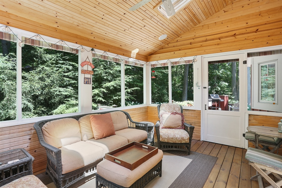 Real Estate Photography - 15987 Bittersweet Lane, Union Pier, MI, 49129 - Sun Room