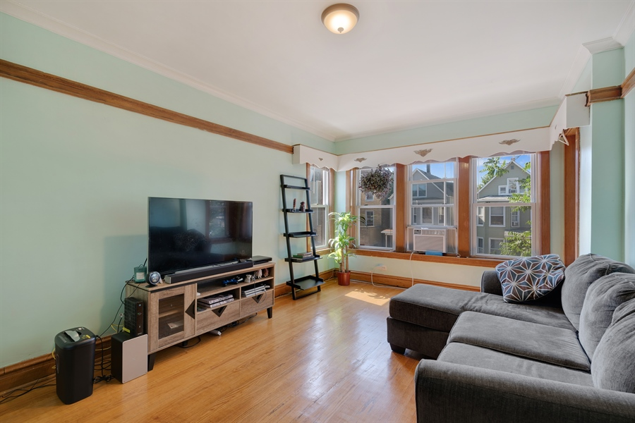 Real Estate Photography - 3742 W Diversey, Chicago, IL, 60647 - Living Room