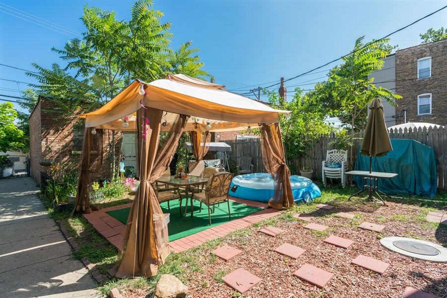 Real Estate Photography - 3742 W Diversey, Chicago, IL, 60647 - Back Yard