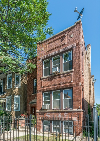 Real Estate Photography - 3742 W Diversey, Chicago, IL, 60647 - Front View