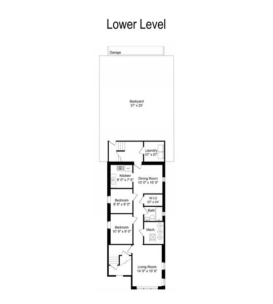 Real Estate Photography - 3742 W Diversey, Chicago, IL, 60647 - Floor Plan