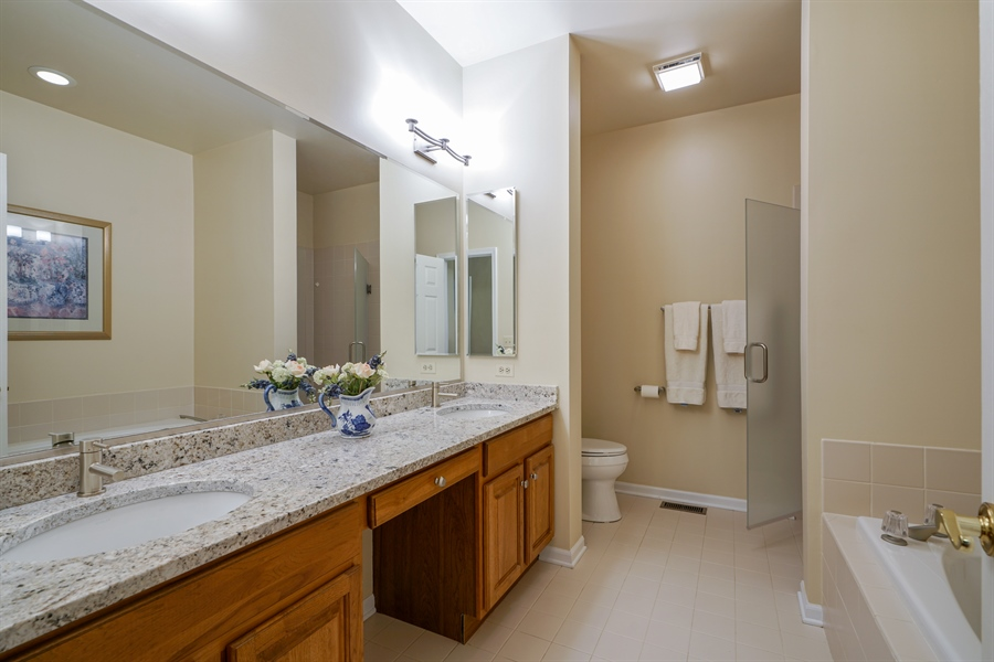 Real Estate Photography - 2118 Trowbridge Ct, Glenview, IL, 60026 - Master Bathroom