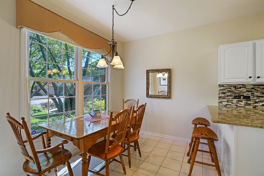 Real Estate Photography - 2118 Trowbridge Ct, Glenview, IL, 60026 - Dining Area
