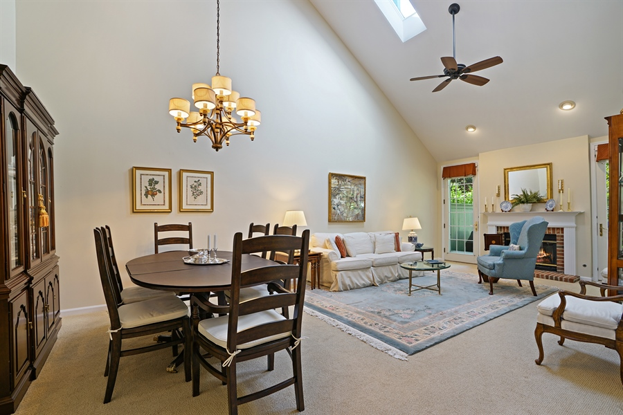 Real Estate Photography - 2118 Trowbridge Ct, Glenview, IL, 60026 - Living Room / Dining Room