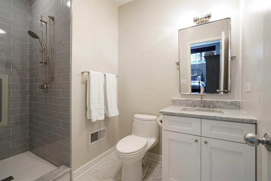 Real Estate Photography - 2145 W Churchill St, Chicago, IL, 60647 - 3rd Bathroom