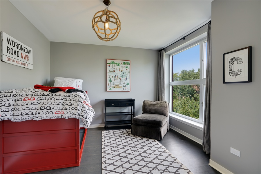 Real Estate Photography - 2145 W Churchill St, Chicago, IL, 60647 - 2nd Bedroom