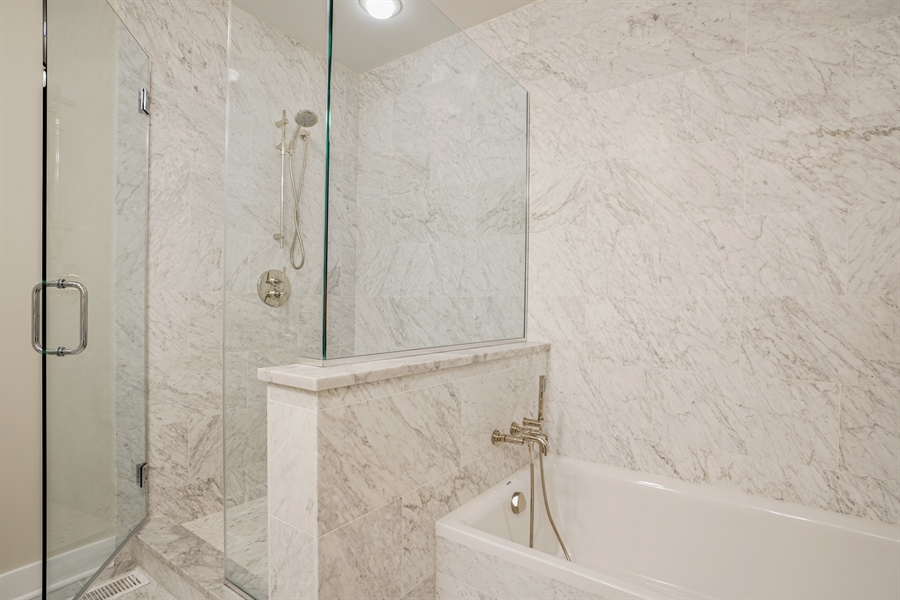 Real Estate Photography - 2145 W Churchill St, Chicago, IL, 60647 - Master Bathroom