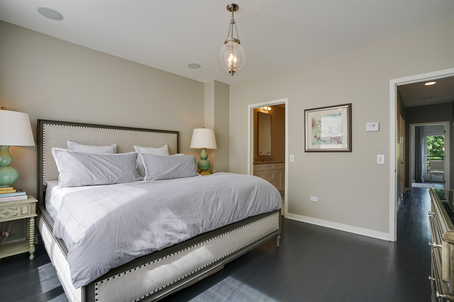 Real Estate Photography - 2145 W Churchill St, Chicago, IL, 60647 - Master Bedroom