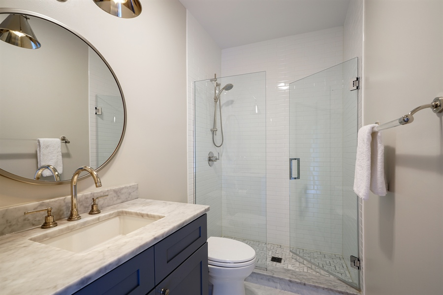 Real Estate Photography - 2145 W Churchill St, Chicago, IL, 60647 - 2nd Bathroom