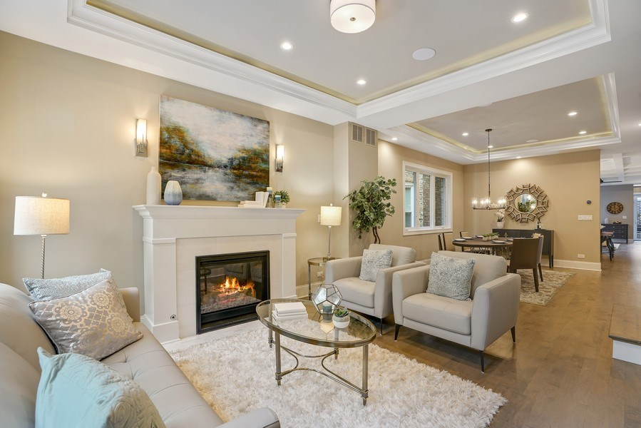 Real Estate Photography - 3423 N. Bell, Chicago, IL, 60618 - Living Room