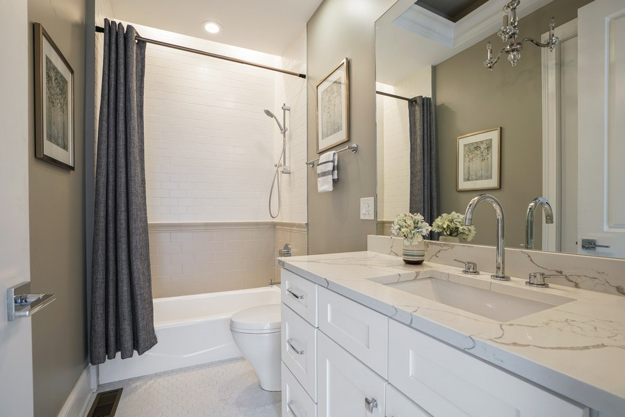 Real Estate Photography - 3423 N. Bell, Chicago, IL, 60618 - 3rd Bathroom
