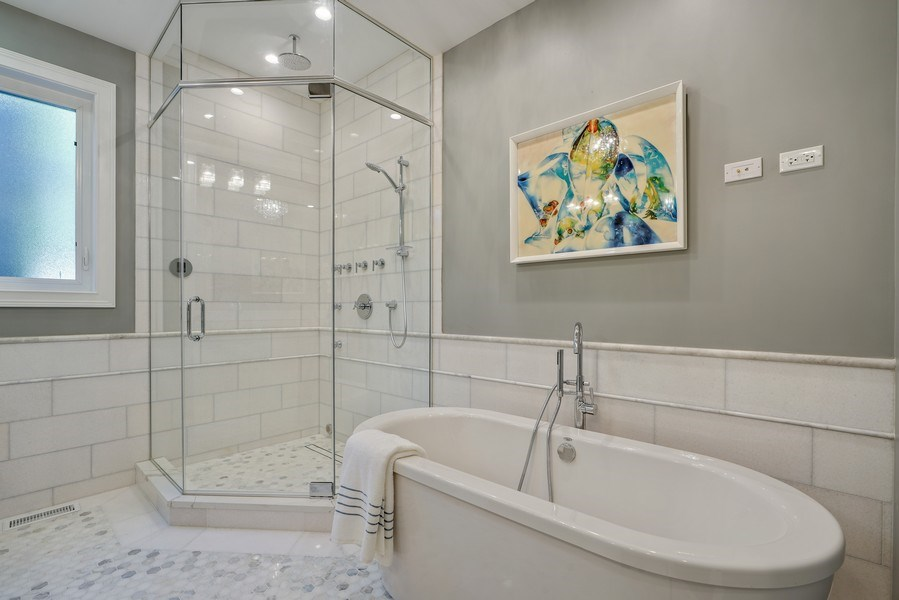 Real Estate Photography - 3423 N. Bell, Chicago, IL, 60618 - Master Bathroom