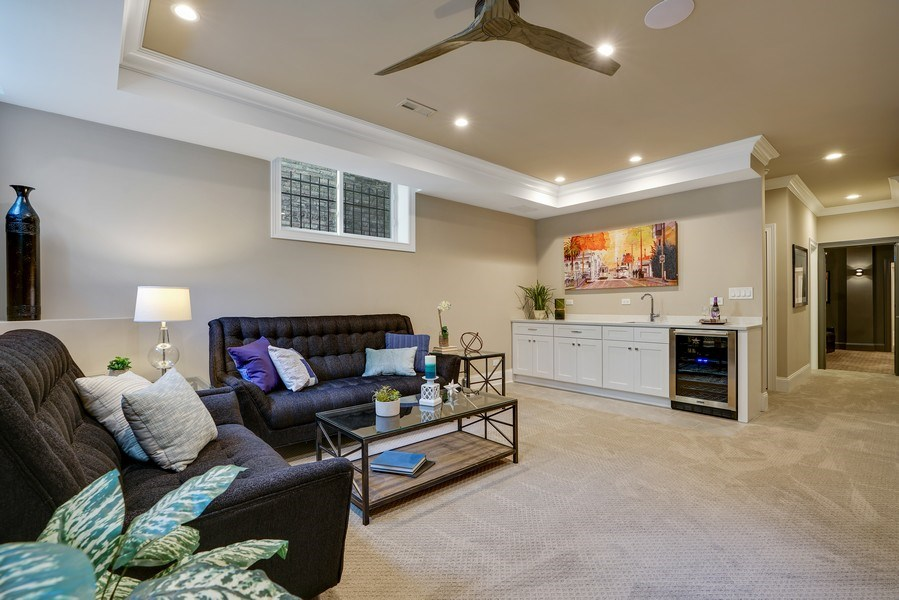 Real Estate Photography - 3423 N. Bell, Chicago, IL, 60618 - Lower Level