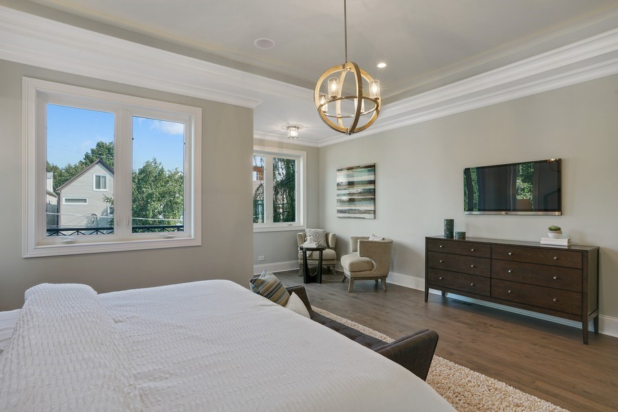 Real Estate Photography - 3423 N. Bell, Chicago, IL, 60618 - Master Bedroom