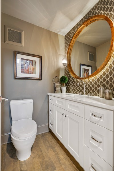 Real Estate Photography - 3423 N. Bell, Chicago, IL, 60618 - Powder Room