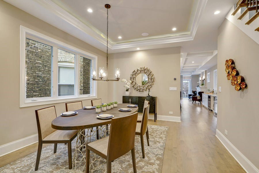 Real Estate Photography - 3423 N. Bell, Chicago, IL, 60618 - Dining Room