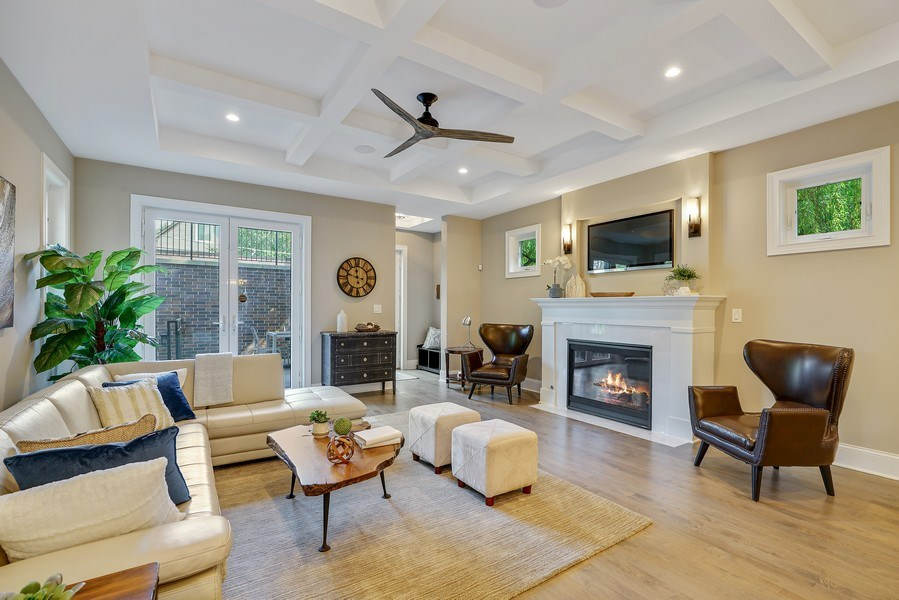 Real Estate Photography - 3423 N. Bell, Chicago, IL, 60618 - Family Room