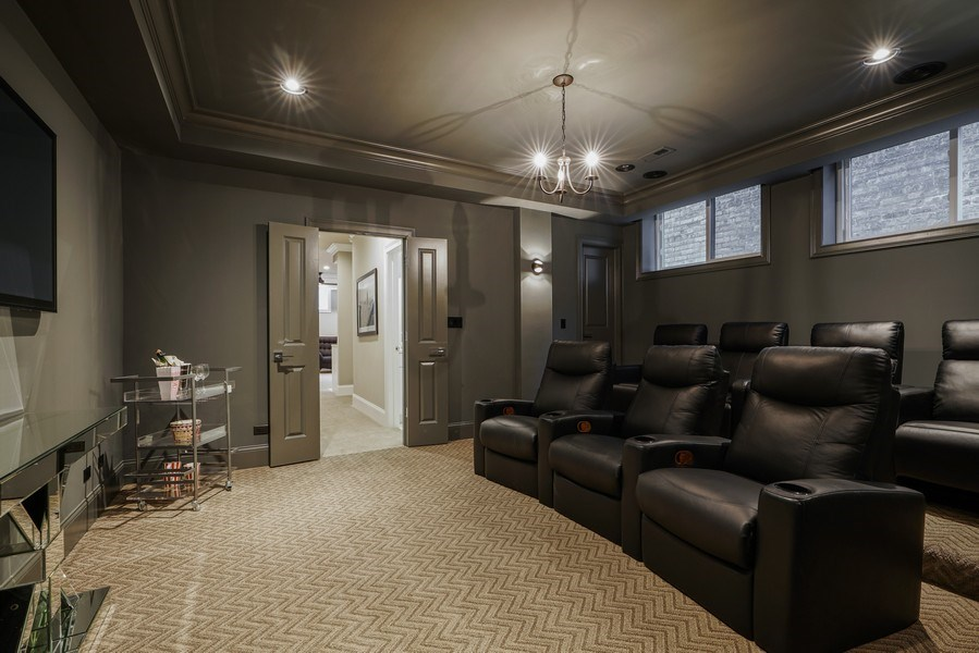 Real Estate Photography - 3423 N. Bell, Chicago, IL, 60618 - Theater