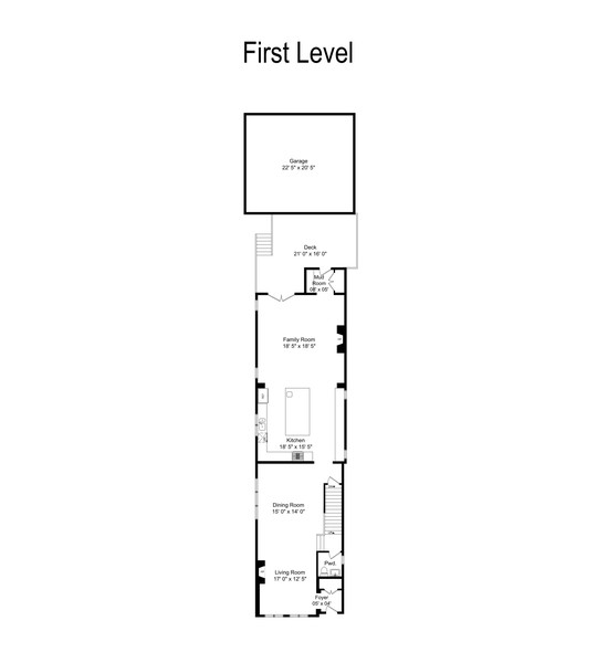 Real Estate Photography - 3423 N. Bell, Chicago, IL, 60618 - Floor Plan