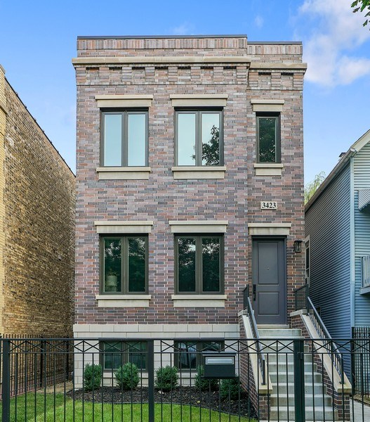 Real Estate Photography - 3423 N. Bell, Chicago, IL, 60618 - Front View