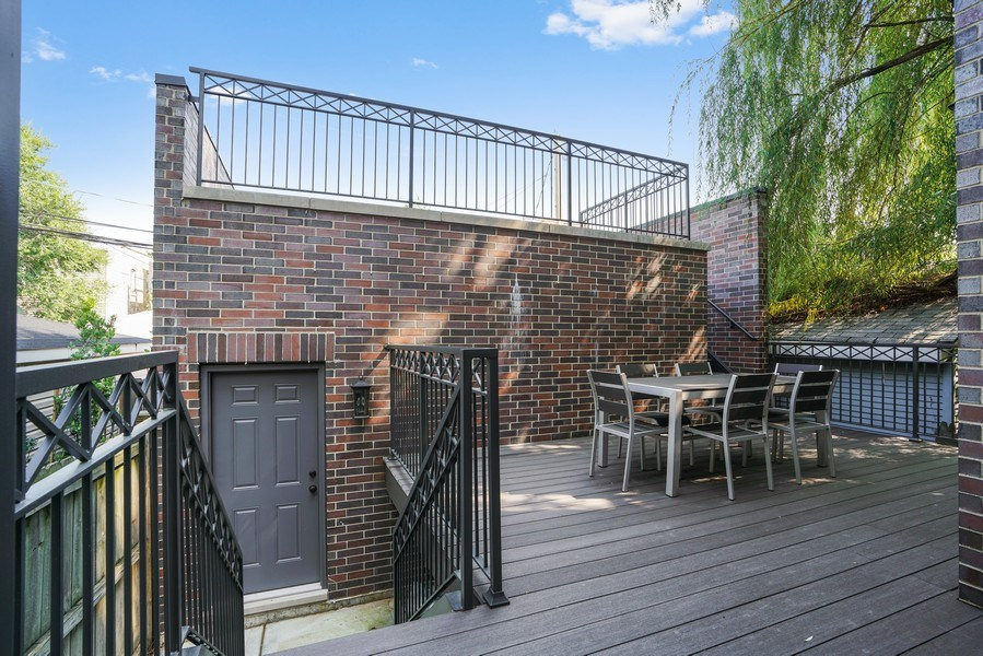 Real Estate Photography - 3423 N. Bell, Chicago, IL, 60618 - Deck