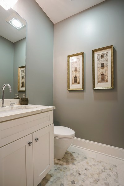 Real Estate Photography - 3423 N. Bell, Chicago, IL, 60618 - 2nd Bathroom
