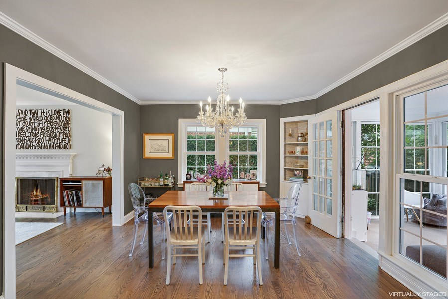 Real Estate Photography - 2400 Greenwood Ave, Wilmette, IL, 60091 - Dining Room