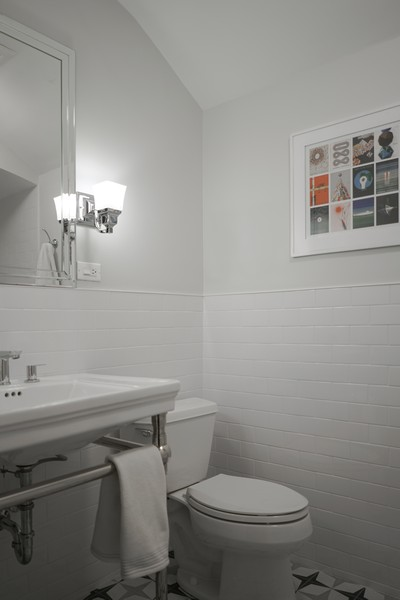 Real Estate Photography - 2400 Greenwood Ave, Wilmette, IL, 60091 - 3rd Bathroom