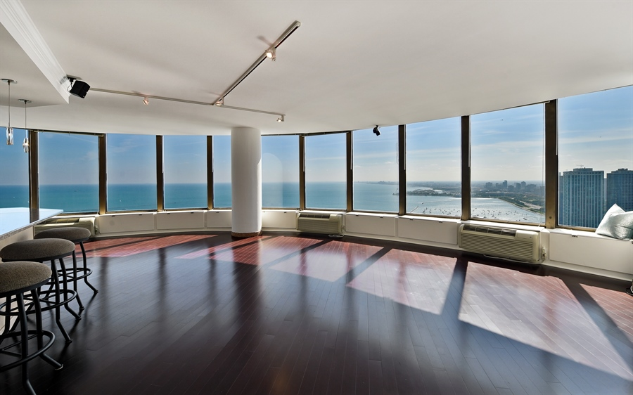 Real Estate Photography - 505 N Lake Shore Dr, Unit 5607, Chicago, IL, 60611 - Living Room
