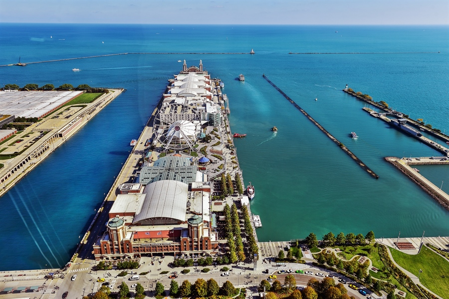 Real Estate Photography - 505 N Lake Shore Dr, Unit 5607, Chicago, IL, 60611 - Navy Pier- East View