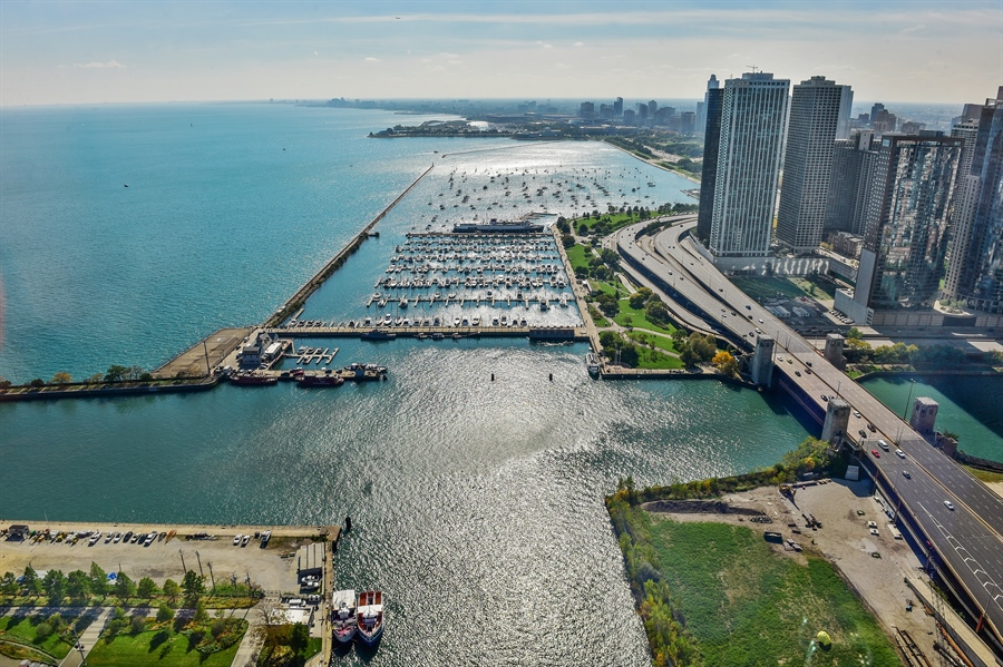 Real Estate Photography - 505 N Lake Shore Dr, Unit 5607, Chicago, IL, 60611 - South East- South West Views
